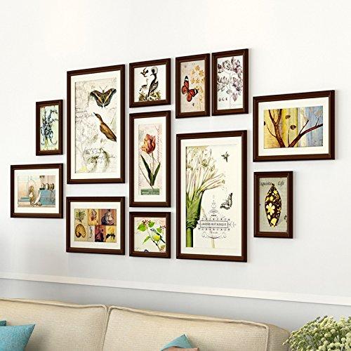 Fotolijst*massief houten foto wandsieraad wand woonkamer muur creatieve combinatie wand album wall, chocolade