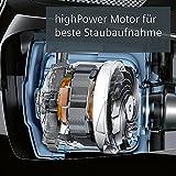 Siemens synchropower Bodenstaubsauger mit Beutel VS06B112A, sehr niedriger Stromverbrauch, HighPower Motor, 4L Beutelvolumen, Hygienefilter, 700 Watt, schwarz
