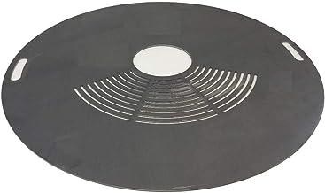 TMM Grillplatte Feuerplatte Durchmesser 80cm mit innen Griffe und Grillrostfläche Barbecue 5mm Grill BBQ Fassgrill Stahlfass Holzkohlegrill Kugelgrill Feuertonne