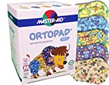 Ortopad Bamboo for Boys, Adhesive Eye Patches, Softer Material and New Designs, (50 per Box) (Medium Size)