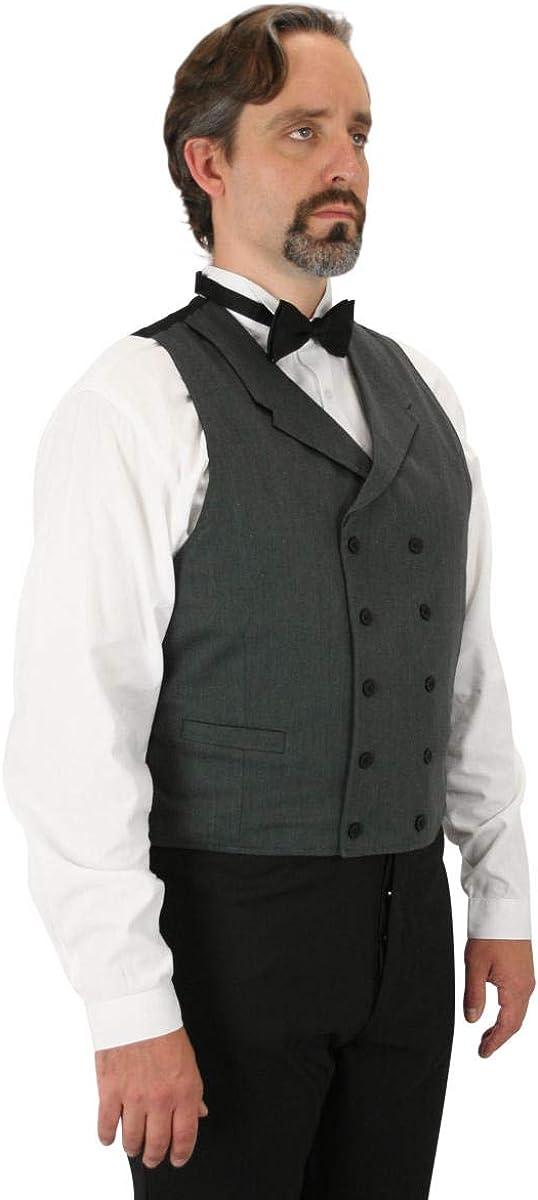 Historical Emporium Men's Double Breasted Cotton Blend Callahan Dress Vest