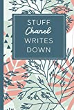 Stuff Chanel Writes Down: Personalized Journal / Notebook (6 x 9 inch) STUNNING Tropical Teal and Blush Pink Pattern