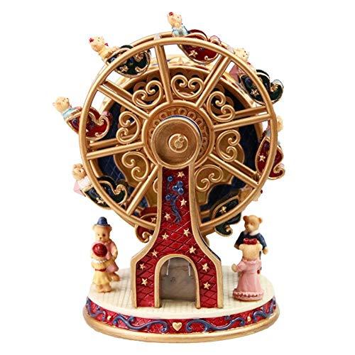 WUYANSE Carillon Rotante Carillon per orsi Decorazione Regalo di Natale Ruota panoramica