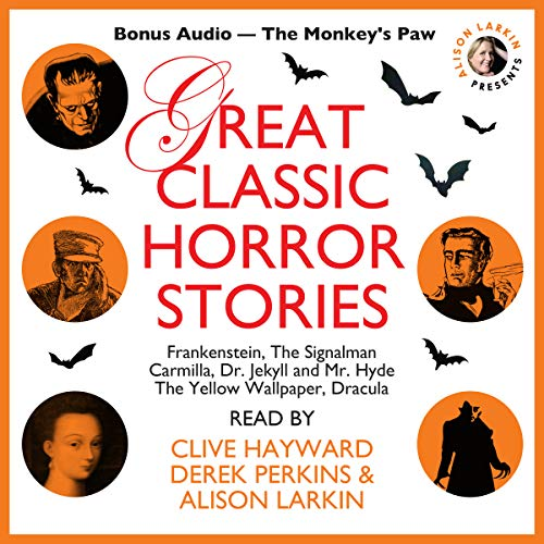 "Great Classic Horror Stories with a Bonus Story: ""The Monkey's Paw"" audiobook cover art"