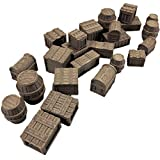 Tawny Crates, barriles y cofres - 28mm Gaming Terrain