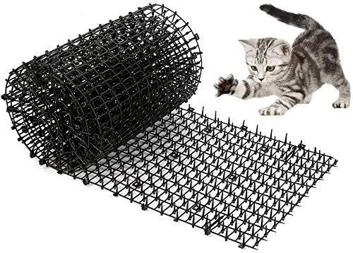 WADEO Tier-Barriere 200 x 30 cm, Katzenabwehr Gitter Katzenschreck Spikes Dornengitter Tiervertreiber Katze, Dornengitter Tier-Barriere, mit 8 Gartenheftklammern, für Garten, Zaun, Anti-Cats Network