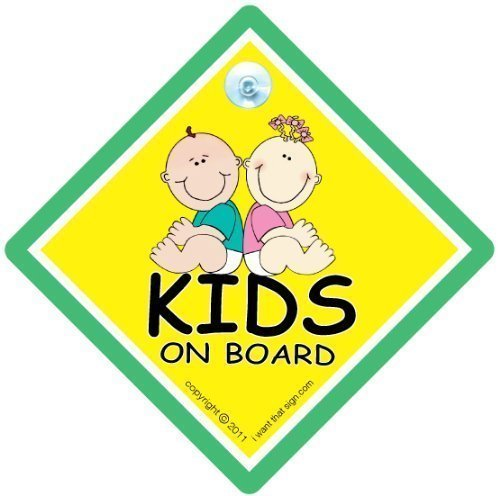 Kid 's On Board, Kid 's On Board, Schild, Kid 's On Board Auto Zeichen, Kids on Board, Schild Kid 's On Board, Baby an Bord Zeichen, Baby an Bord, Aufkleber, Bumper Aufkleber, Aufkleber, Baby, Baby Auto Schild, Kinder On Board