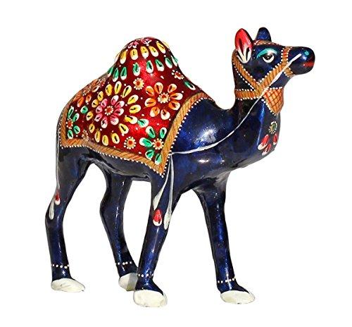 6 Inch Beautiful Unique Blue Camel Statue / Single Humped Animal Figurines in Unique Elegant Meenakari Work / Perfect…