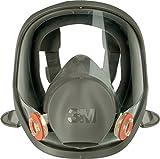 3m 7100015052 6900 maschera completa in silicone, taglia L, nero / grigio