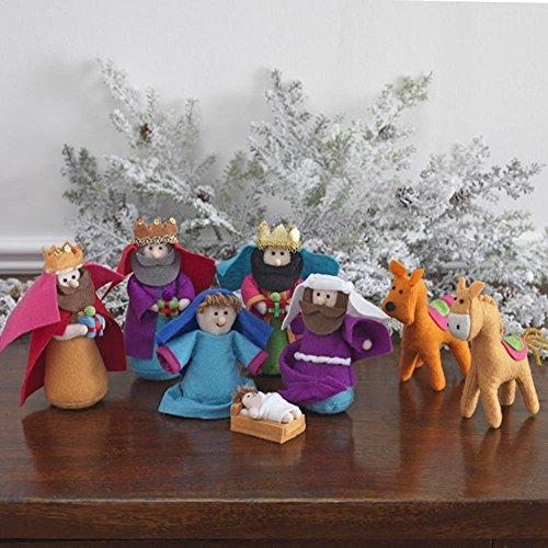 RazHoliday Mini-Krippenfiguren-Set, 15 cm, mehrfarbig, 8-teilig