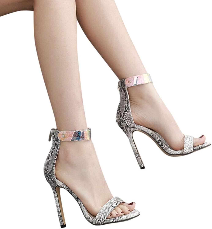 Fheaven Women's Platfrom Wedges Block High Heel shoes Belt Buckle Open Toe Sandals Cross Straps Casual shoes (5, Black)