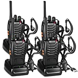 Nestling 4PCS Walkie Talkies Rechargeable Walkie Talkie Long Range Two-Way Radio Walky Talky Set with...