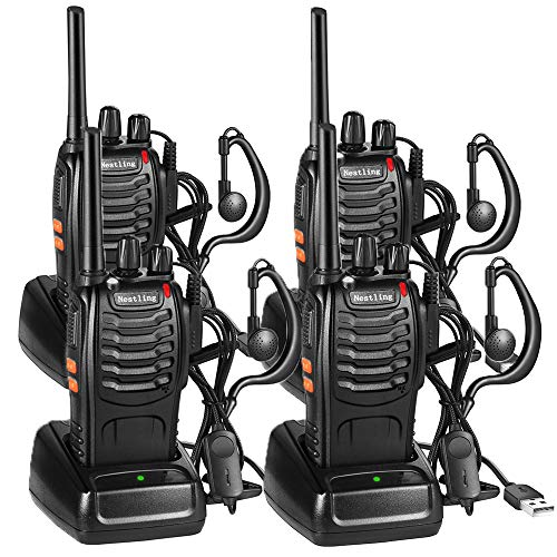 Walkie Talkie Recargable, 16 Canales PMR446 Walky Talky, Pro