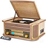 Best Vintage Record Players - Denver MCR-50 Retro Wooden Music Centre Hi-Fi With Review