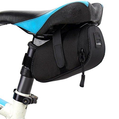 LIUYUAN Bolsa de sillín de almacenamiento impermeable para bicicleta
