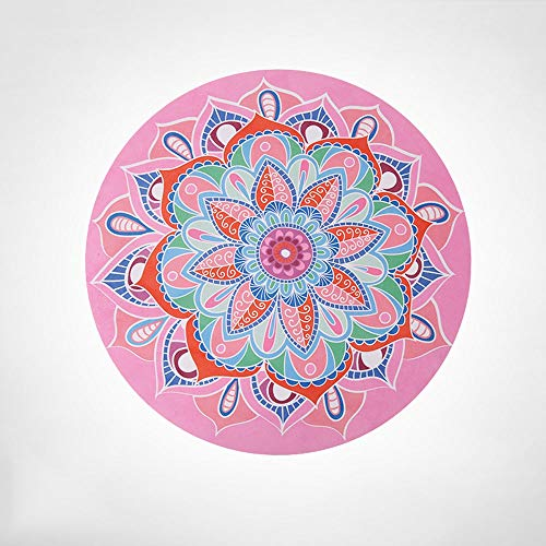 Bermnn Esterilla de yoga moderna y simple plegable redonda para meditación portátil de goma antideslizante Mini meditación soporte plano Mat Yoga Mat Interior Floor Mat Niños Rastrear Mat (Color: D)
