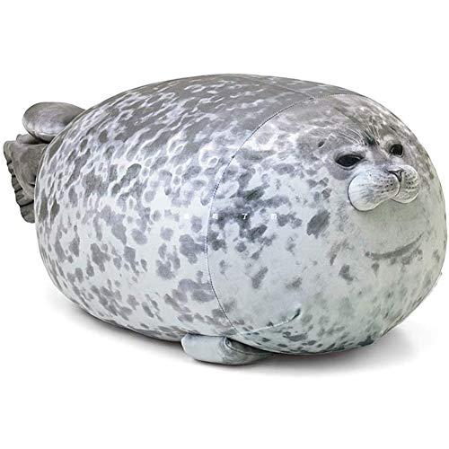 Yiyu 60cm cojín Animal de Sello, mollig Blob cojín Sello sellador algodón Lindo del Animal de la Almohadilla de Felpa cojín Amortiguador Trasero Junta Abrazado Soft cómodo x (Color : Gray)