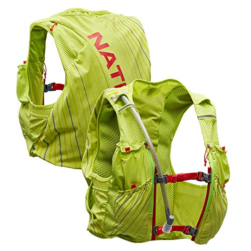 Nathan Pinnacle 12L Hydration Pack Running Vest with 1.6L Water Bladder Included. Hydration Backpack for Women/Men/Unisex. for Runs, Hiking, Cycling and More (Women's - Lime/Hibiscus, L)