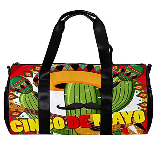 Bolsa de viaje para mujeres y hombres Cinco De Mayo Cactus Guitarras...