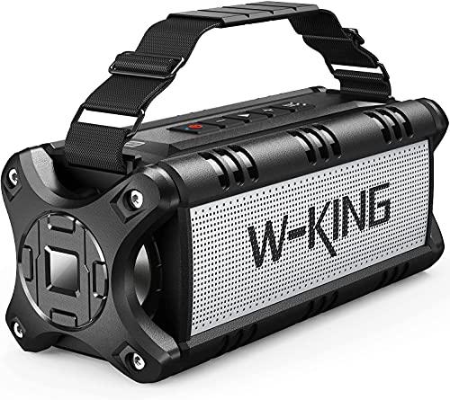 Portable Bluetooth Speakers, W-KING 50W Bluetooth Speaker Loud, IPX6...