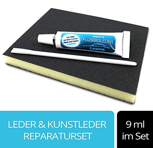 Flüssigleder nach RAL 9ml inkl. Schleifad und Spatel Leder smart Repair (schwarz F034)