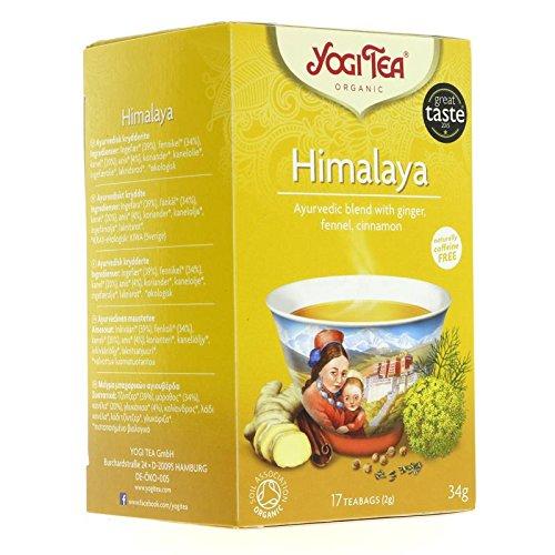 Yogi Tea - Tisane ayurvédique aux plantes avec Gingembre, Fenouil, Cannelle - 17 Sachets