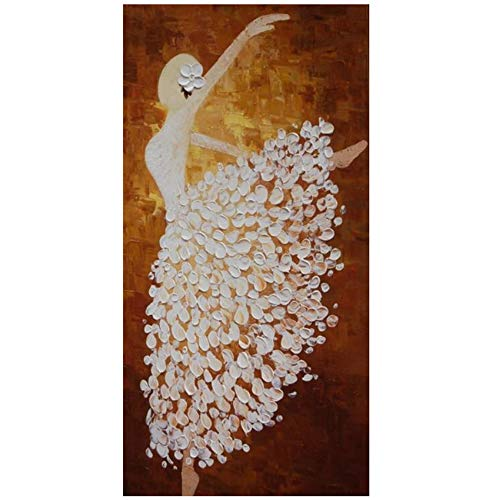Canvas Modern Abstract Olieverf Poster Wall Art Abstract Ballerina Afbeeldingen voor Woonkamer Decor Foto 30x60cm (11.8x23.6 inch) Geen Frame