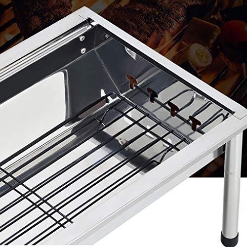 51gVp1M9HVL - WZHZJ Silber im Freien Grill Tisch, Einfacher Barbecue Faltbare Barbecue-Ofen Non Stick Pan Barbecue Outdoor Equipment