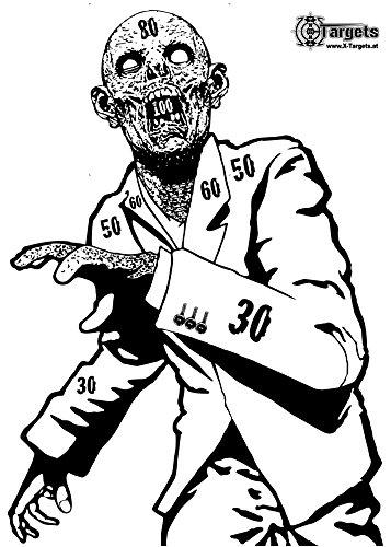 X-Targets Große Zombie Zielscheiben Snobby / 53x84 cm/Papier 120g/m² (20 Stück)