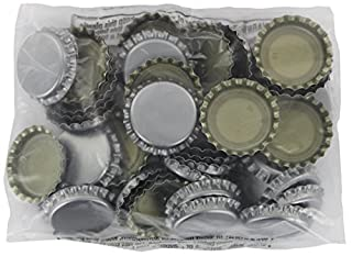 Silver Oxygen Barrier Crown Caps 144 Count للبيع