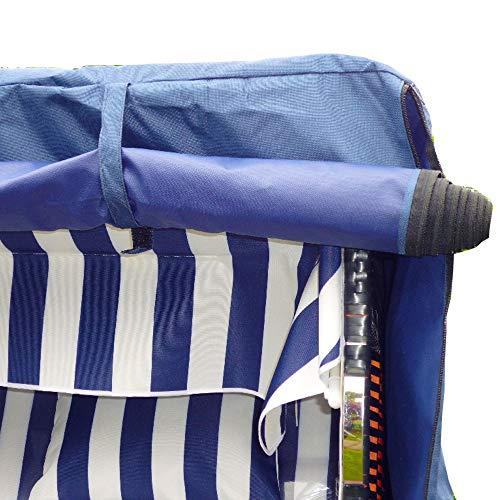 Luxus XXXL Strandkorbhülle Strandkorbschutzhülle Premium Strandkorb Schutzhülle Bootsplane 165cm B x 165cm H x 100cm T von XINRO®
