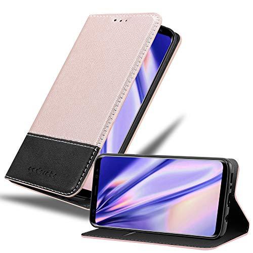 Cadorabo Funda Libro para Samsung Galaxy S8 Plus en Rosa Oro Negro - Cubierta Proteccíon con Cierre Magnético, Tarjetero y Función de Suporte - Etui Case Cover Carcasa