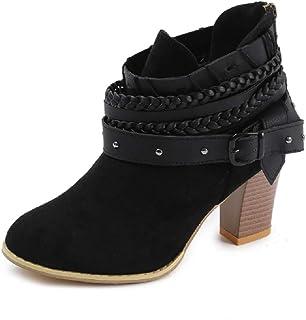4715348f8cf633 NEOKER Bottines Cheville Femme Chaussures à Talons Hauts Sexy Élégant  Western Bottes Chelsea Respirant Bout Pointu