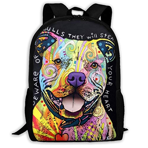 Oswz Colorful Pitbull Travel Backpack Insulated Soft Lunch Cooler for Men Women, Best for Picnic, Hiking, Travel, Beach, Sports, Work