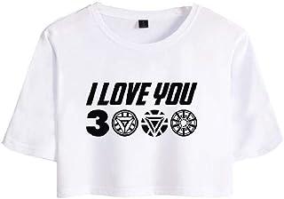 Camiseta de manga corta con ombligo para niñas