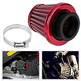 filtro aire moto 38 mm Filtro de aire pit bike redondo cónico Universal Auto...