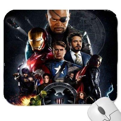 Un 2# 2de los Vengadores edad de ultrón con una foto de Capitán América, Hulk, Iron Man, Thor de alta calidad gruesa de goma alfombrilla de ratón con tacto suave,