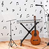 ARTTOP Musical Note Wall Decals,Creative Music Notes Removable Vinyl Wall Stickers for Classroom Kids Room Music Studio Decoration