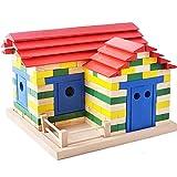 YaGFeng Uegos De Construcción Grande Los Ladrillos creativos de los Bloques Huecos DIY Juguetes de los niños de los niños de Educación Infantil Rompecabezas De Madera Bloques