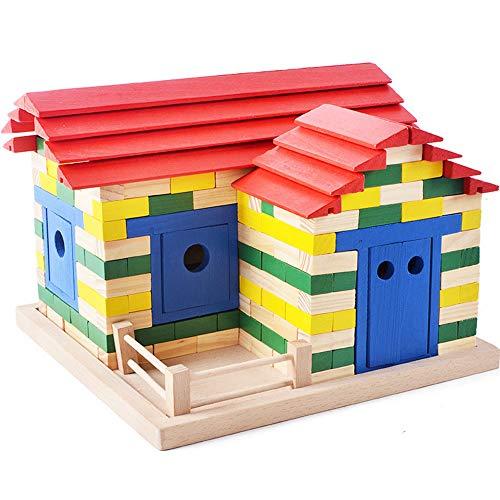 Huangjiahao Blocs de Construction Brique de Couleur créative pour Enfants Petite enfance Éducation Blocs de Construction pour Enfants Jouets de Bricolage pour Les Garçons Filles Cadeau