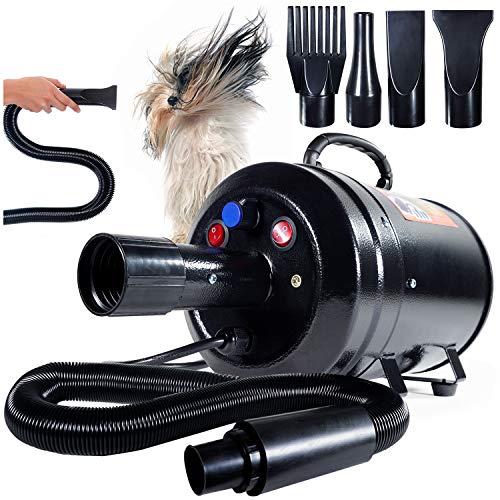 Dog Blow Dryer for Grooming (HV) Undercoat K9 Forced Air, High Velocity Coat Blower Kit, Deshedding...