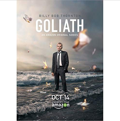 yhnjikl Posters And Prints Goliath Billy Bob Thornton Tv Series Art Poster Canvas Painting Home Decor 40X60Cm Without Frame
