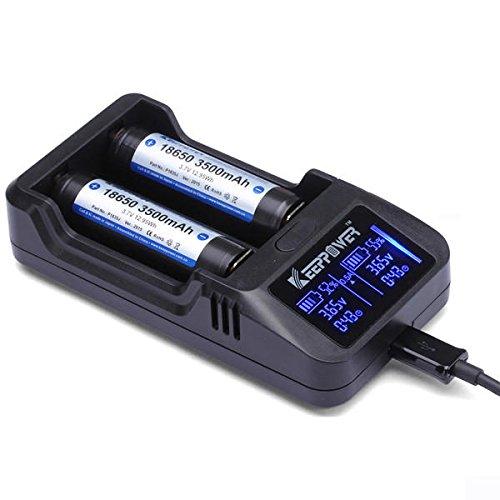 Bazaar Keeppower L2 LCD-Display Intelligente Li-Ionen-wiederaufladbare Batterie Ladegerät