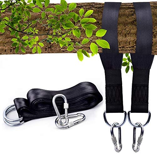 Tree Swing Straps Hanging Kit Holds 2400lbs by Staythere Two 8ft Straps with Safety Lock Carabiners product image