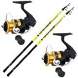 agc Kit Bolognese 2 Canne Globe Fishing Tornado 3 M + 2 Mulinelli Shimano FX 2500