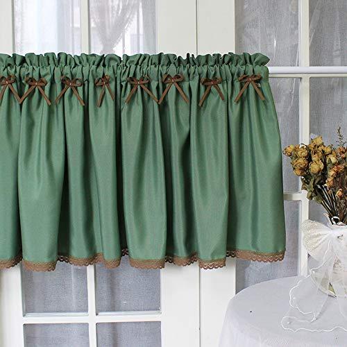 curtain Cortinas para Cocina Blackout Half Hollow Crochet Lace Cortinas Cortas para Bistró, Baño, Sala De Estar