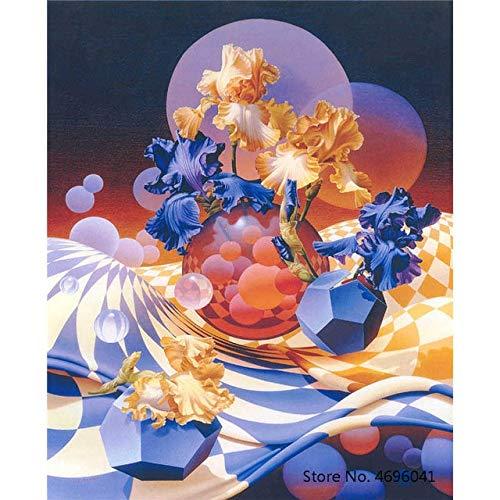 YKDDBB Digitale schilderijSchilderij Door Getallen Frameworks Kleurplaten Door Getallen Home Decor Foto's Bloemen Vaas Decoraties