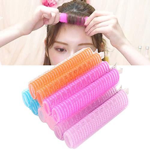 Rouleau à cheveux, salon de coiffure bigoudis, 5pcs rouleau de cheveux à double couche Air Bangs Hair Curler Clamp Fluffy Hairdressing Tool Facile à créer une forme de frange simple