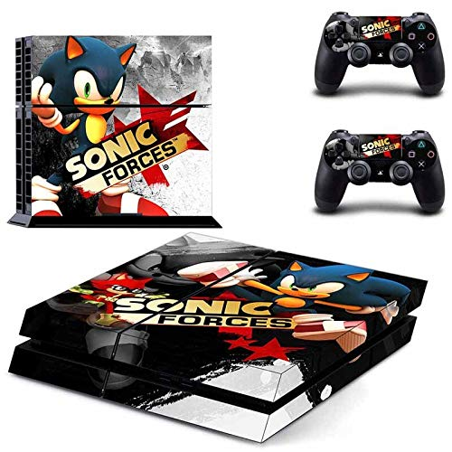 Sonic Hedgehog PS4 Skin Console and 2 Controller, Vinyl Decal Sticker Full Cover Protective by Mr Wonderful Skin