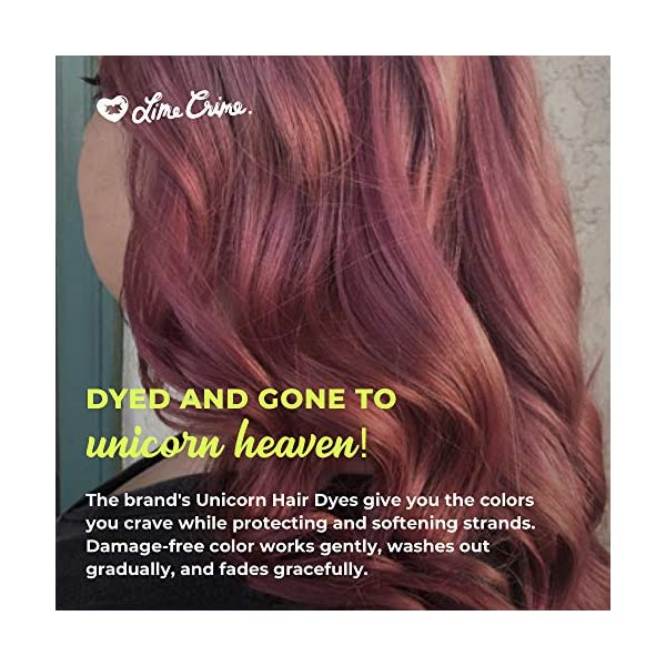 Lime Crime Unicorn Hair Dye, Aesthetic - Mauve Fantasy Hair Color - Full Coverage, Ultra-Conditioning, Semi-Permanent, Damage-Free Formula - Vegan - 6.76 fl oz 5